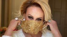 Ana Maria Braga usa máscara de luxo com cristais; peça custa R$ 180
