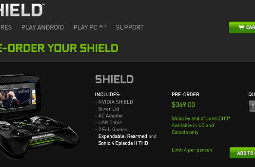 NVIDIA pushes up Shield public pre-order date, lets you hop in queue today