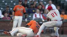 Road woes continue for Phillies in loss to Giants