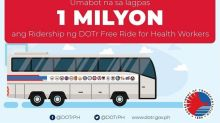 DOTr Free Ride for Health Workers breaches 1M ridership