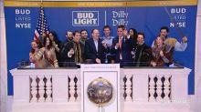 Anheuser-Busch InBev and the Dilly Dilly crew ring the cl...