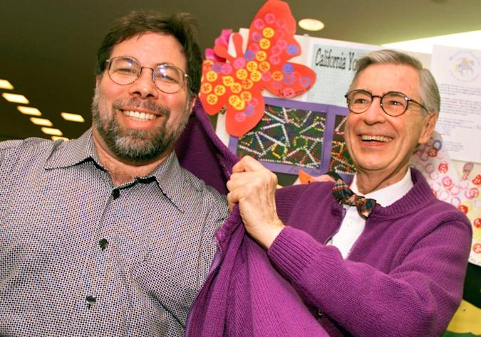 Steve Wozniak and Fred Rogers (Getty Images)