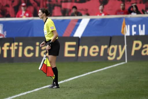 Kathryn Nesbitt breaks ground as MLS is Back final referee