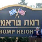 Israel unveils 'Trump Heights' settlement