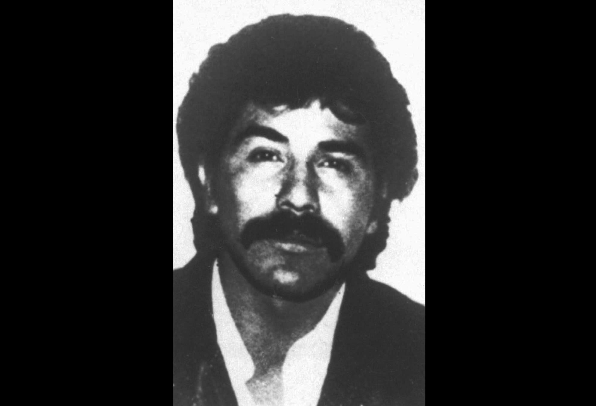 The undated file photo distributed by the Mexican government shows Rafael Caro Quintero, considered the grandfather of Mexican drug trafficking. A Mexican court has ordered the release of Caro Quintero after 28 years in prison for the 1985 kidnapping and killing of U.S. Drug Enforcement Administration agent Enrique Camarena, a brutal murder that marked a low-point in U.S.-Mexico relations. (AP Photo/File)