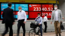 Asia shares make guarded gains, virus breaks new records