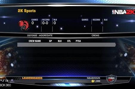 NBA 2K14 Crews mode offers three and five-person team play
