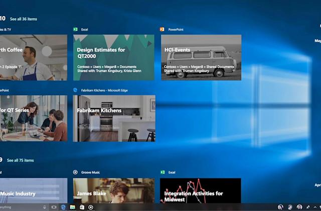 Windows 10's 'Timeline' continuity is available for testing