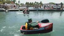 'Sailors' Pilot Plywood-And-Duct-Tape Boats In Wacky Key West Regatta