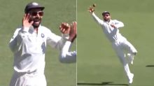 Virat Kohli takes an absolute screamer to dismiss Handscomb