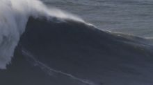 Surfer films her record-breaking 'greatest wave of her life'