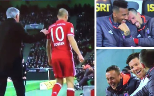 Arjen Robben felt hard-done-by, but his team-mates had little sympathy for him