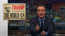John Oliver back with an examination of Trump's foreign policy