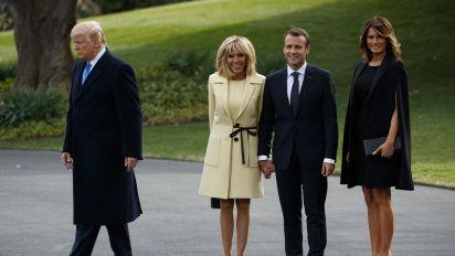La prueba de fuego de Melania Trump ante el presidente de Francia