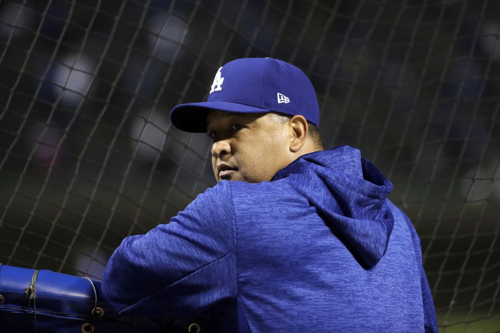 Los Angeles Dodgers manager Dave Roberts will join select company if he lead his team to a World Series title. (AP)