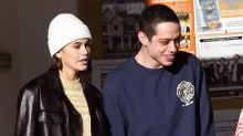 Pete Davidson and Kaia Gerber Holds Hands Outside Grocery Store During Trip to Upstate New York