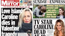 Caroline Flack: Newspapers react to 'Valentine tragedy' after presenter's death