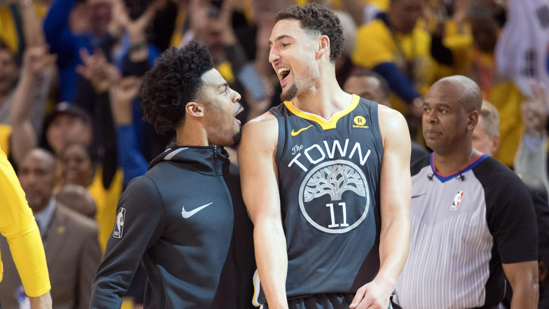 promo code 31c98 92fac Klay Thompson says goodbye to Quinn Cook after ex-Warrior ...