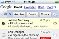 New Gmail Mobile site released for iPhone (and Android)