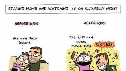 8張網上搞笑人氣插圖 講曬有了孩子後的瘋狂生活
