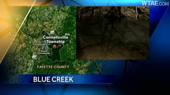DEP recants on source of ink-stained deep blue creek in Connellsville Township