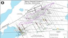 Bonterra Intersects 7.35 Grams Per Tonne Au Over 8.35 Metres at Barry