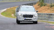 Mercedes GLB-Class spied throwing its boxy body around the 'Ring