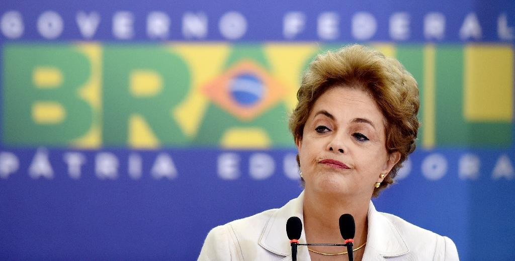 Brazil's President Dilma Rousseff risks being driven from office if the lower house votes in favor of an impeachment trial (AFP Photo/Evaristo Sa)