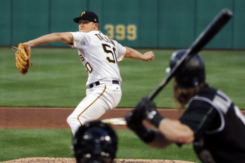 Jameson Taillon looked great in his return from testicular cancer. (AP Photo)