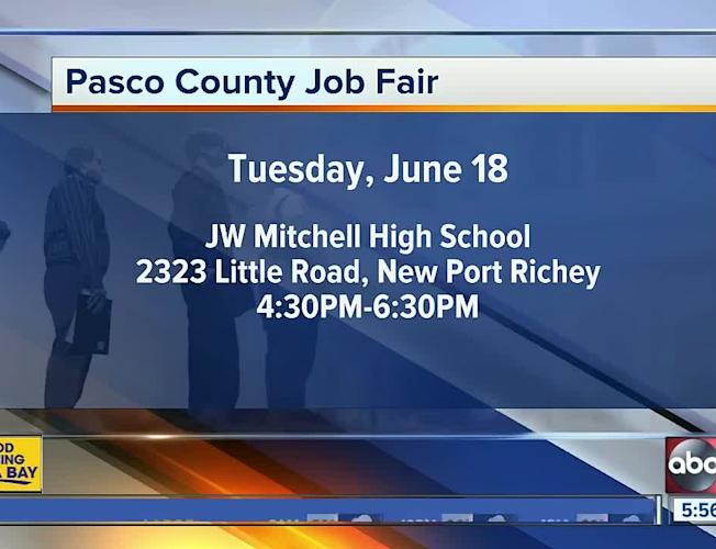 Pasco Community Job Fair to be held June 18 in New Port Richey