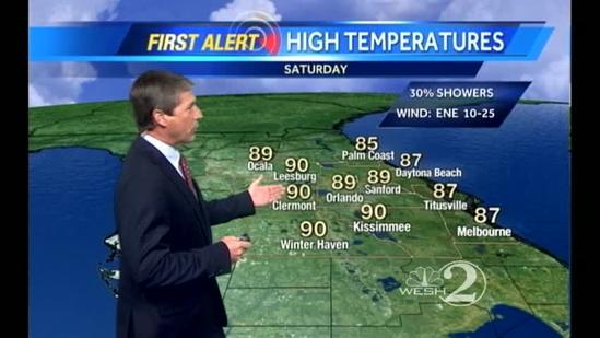 Saturday Outlook: Passing Showers