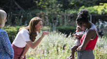 Kate meets fellow parents in London park to discuss support during lockdown