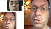 Father nose best: Dad dons a paper clip to make fun of daughter's nose ring