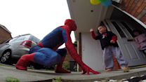 The Amazing SpiderDad Surprises Son Battling Cancer
