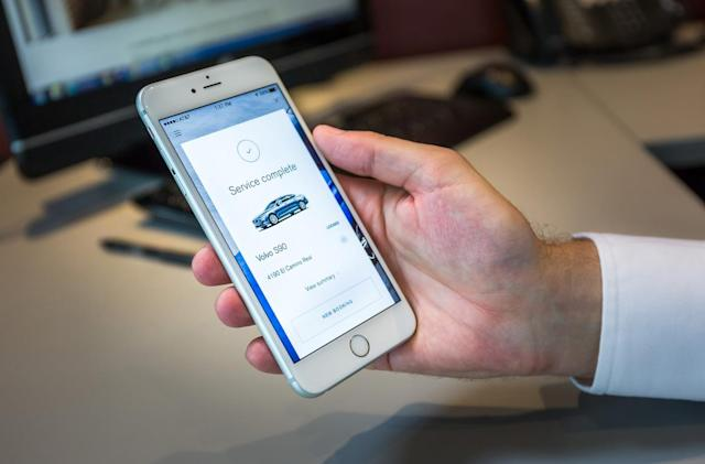 Volvo Concierge brings the gas station to you