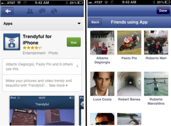 Facebook App Center for mobile leaks out on iOS, uses peer pressure to clinch the sale