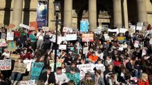 Yorkshire School Students Chant 'We Won't Let Our Planet Die' During Climate Protest