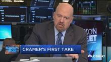 Cramer mocks idea that Apple stock is 'one analyst note away' from being finished
