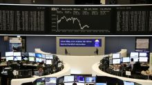 Trade fears end European shares' series of weekly gains