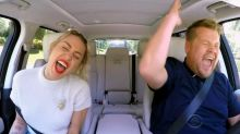 Miley Cyrus jams out and talks pot during 'Carpool Karaoke' with James Corden