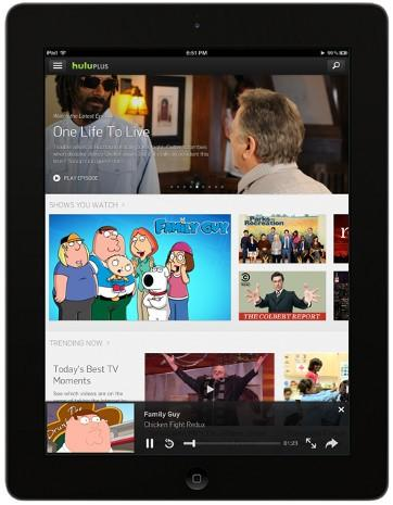 Hulu Plus gets a whole new look on the iPad, focuses on discovery