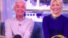 Holly innuendo cracks-up Phil and Debbie McGee on This Morning