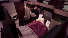 Qatar Airways offers DOUBLE BEDS for business class passengers
