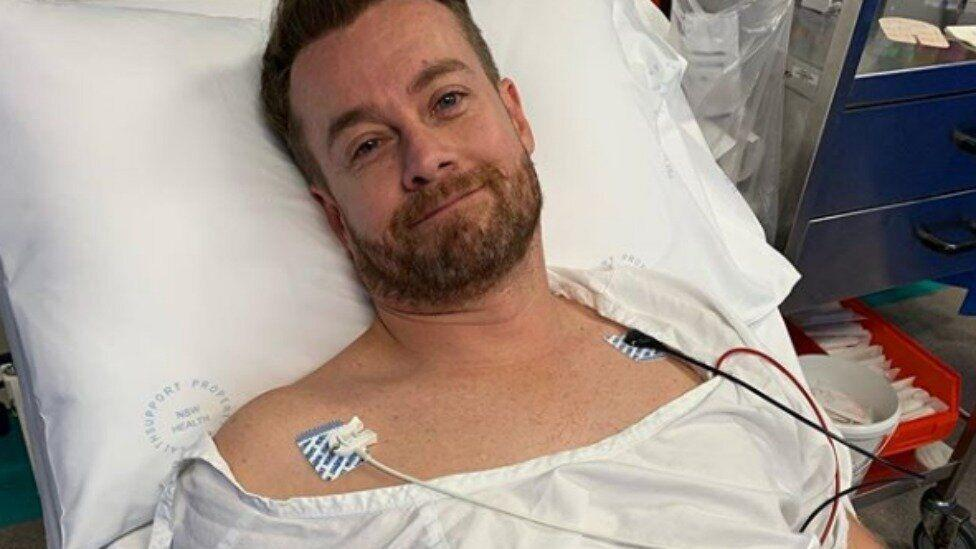 Grant Denyer says he'd cry at night during recent hospital stay
