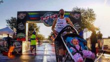 Dad Breaks World Record — While Pushing Baby in a Stroller