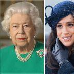 Meghan Markle, Prince Harry React To Queen Elizabeth's Rare, Emotional Speech