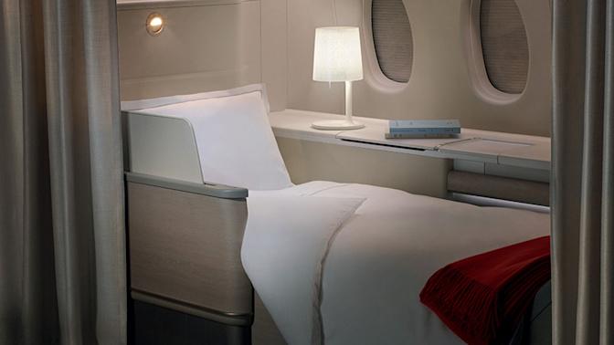 Bei diesen Airlines können Sie bequem schlafen