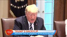 Trump back pedals on Russia comments