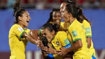 Marta makes history with 17th World Cup goal