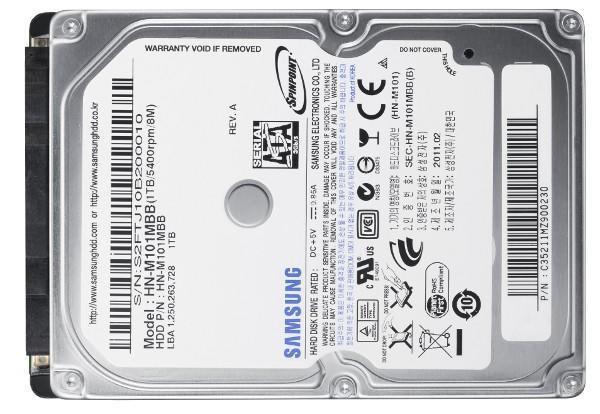 Samsung's 2.5-inch Spinpoint M8 1TB drive fits in your laptop, no cramming necessary